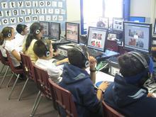 students working on Rosetta Stone